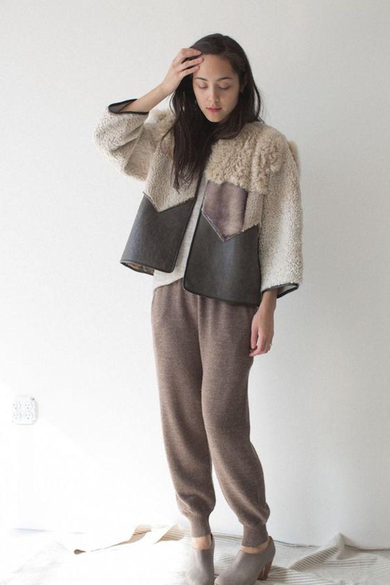 Milena Silvano fur shearing coat jacket 7