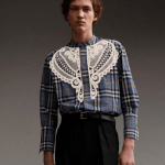 diy idea: Burberry Lace Appliqué Check Shirt