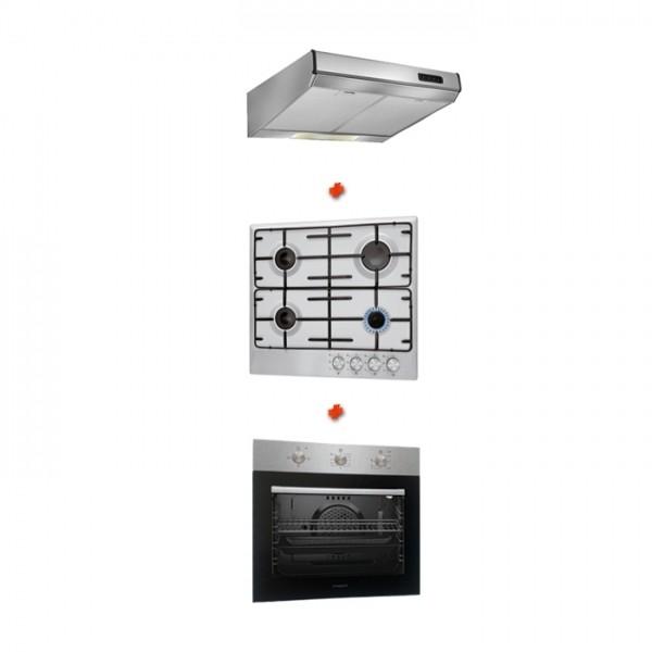 trio de cuisine four encastrable plaque de cuisson hotte proff