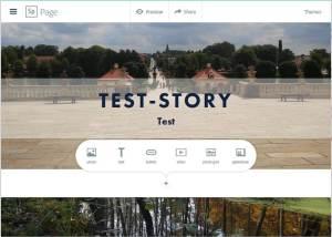 Screenshot Spark Page