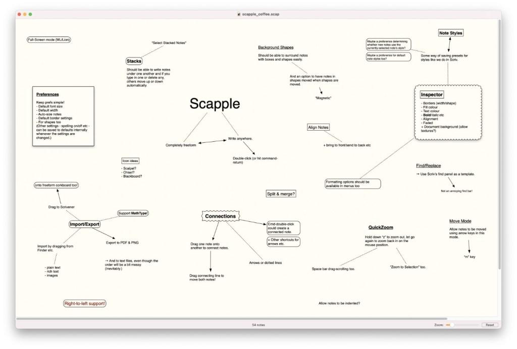 Screenshot Scapple