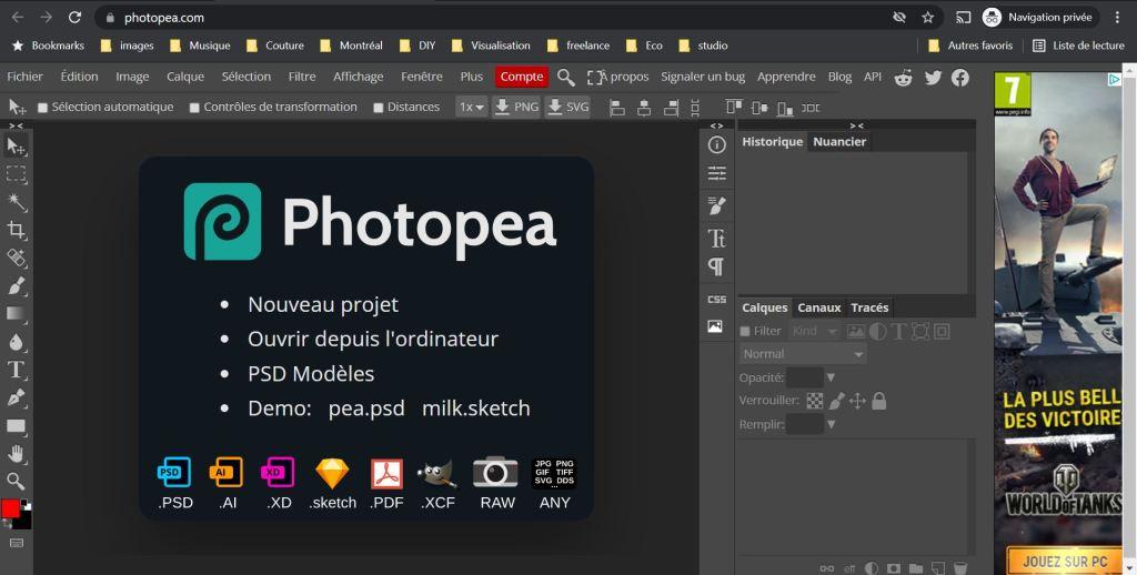 Screenshot Photopea
