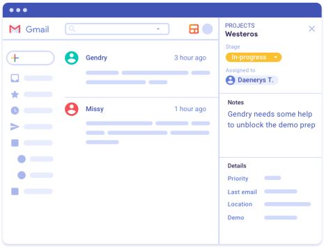 Projets CRM Gmail
