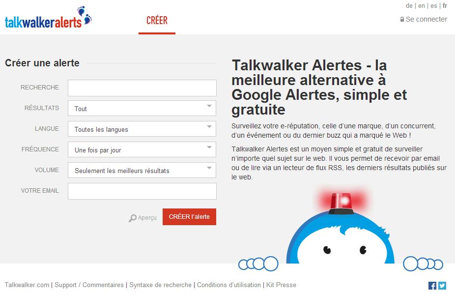 TalkWalker Alertes Veille