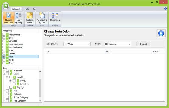 Evernote Batch Processor éditeur