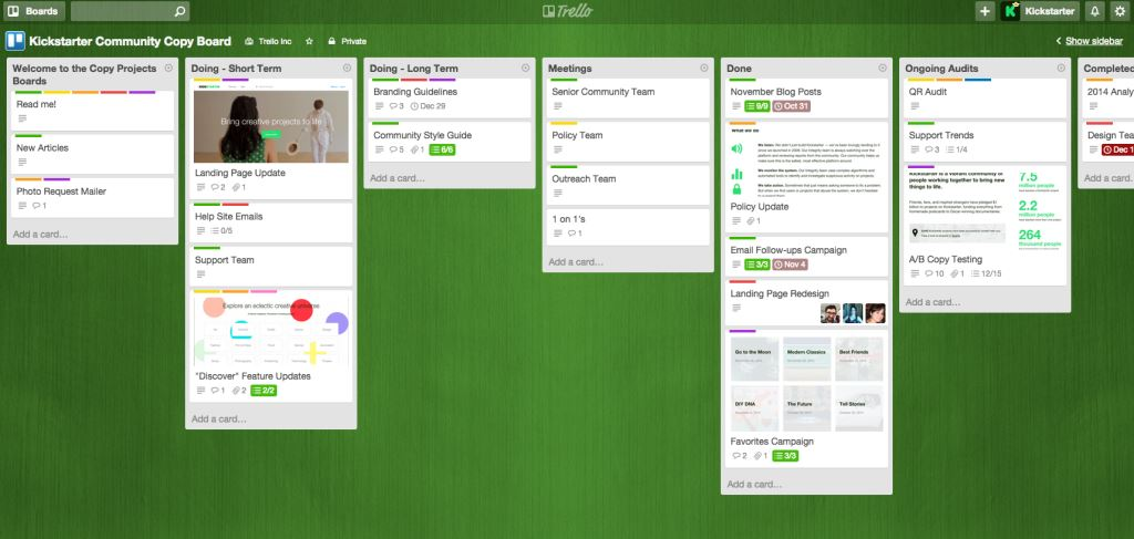 Trello gestion projets tâches