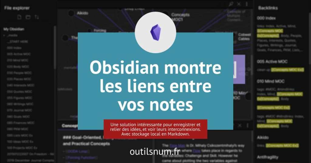 Obsidian prise de notes