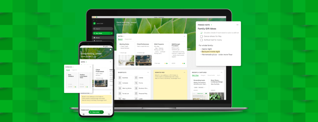 Evernote Accueil