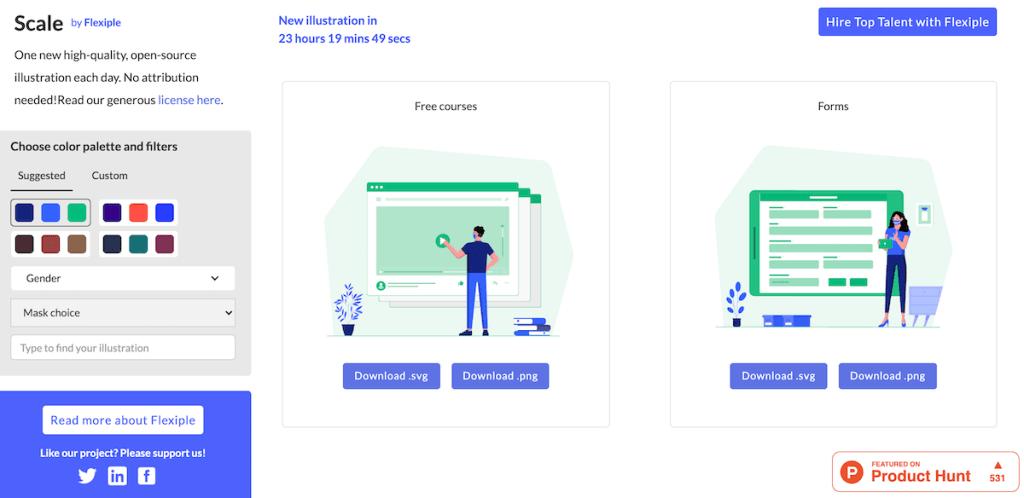 Flexiple Illustrations open source