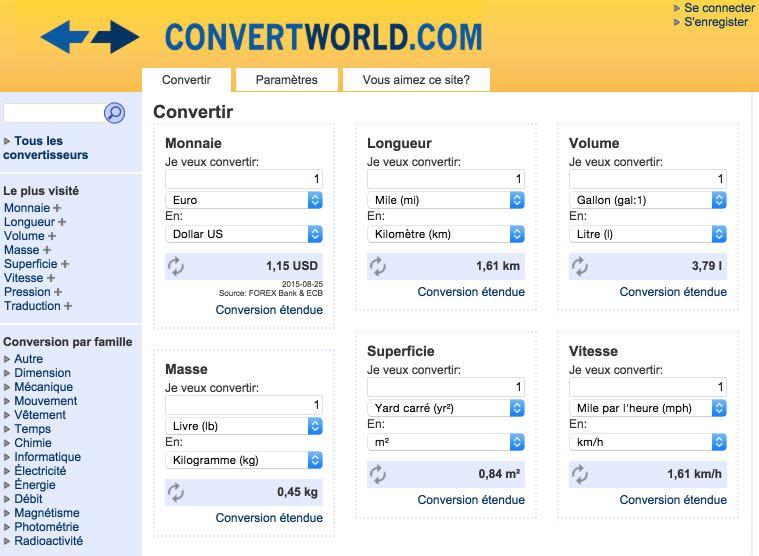 convertworld  un convertisseur universel