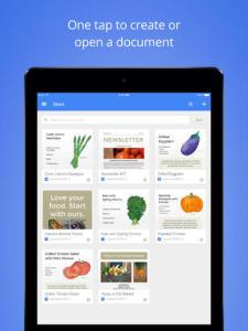 Google docs pour iPad