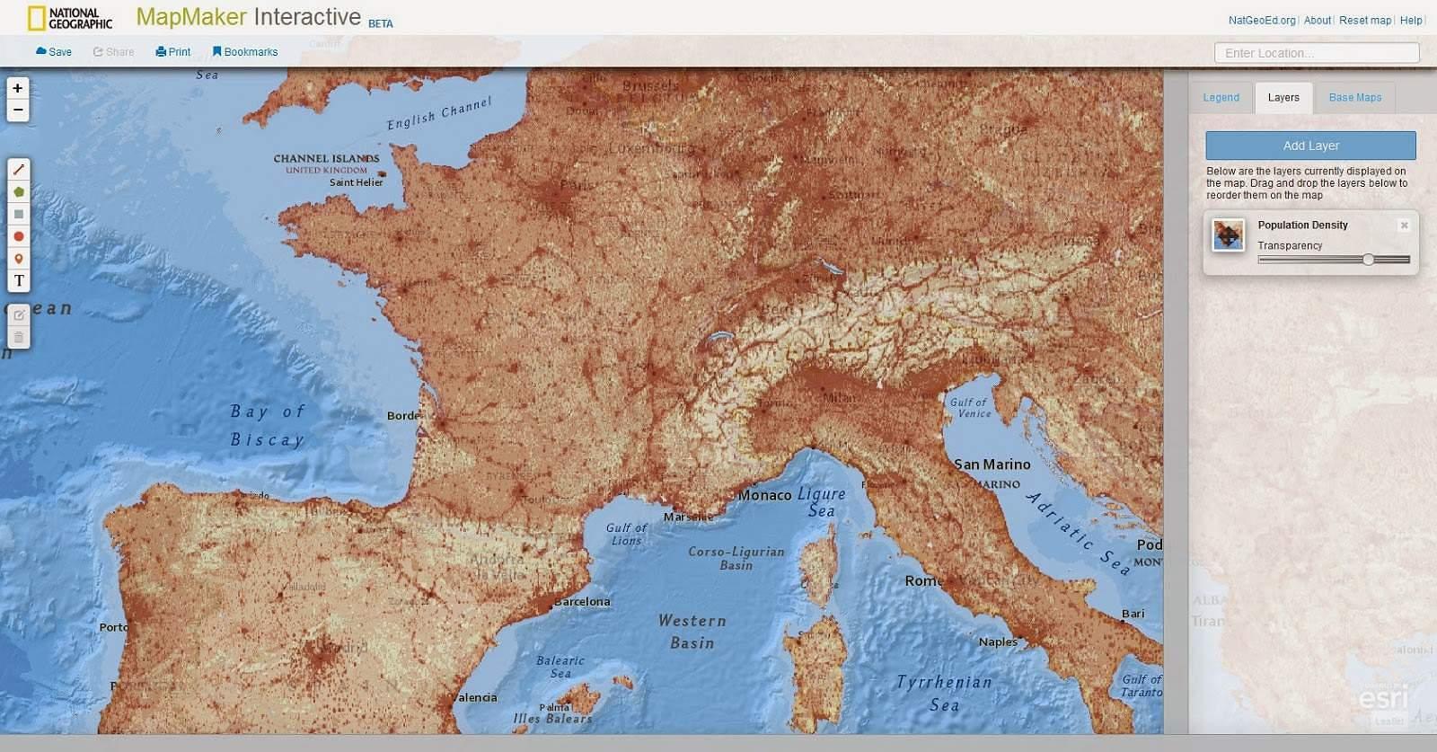 MapMaker Interactive. Créer des cartes en ligne