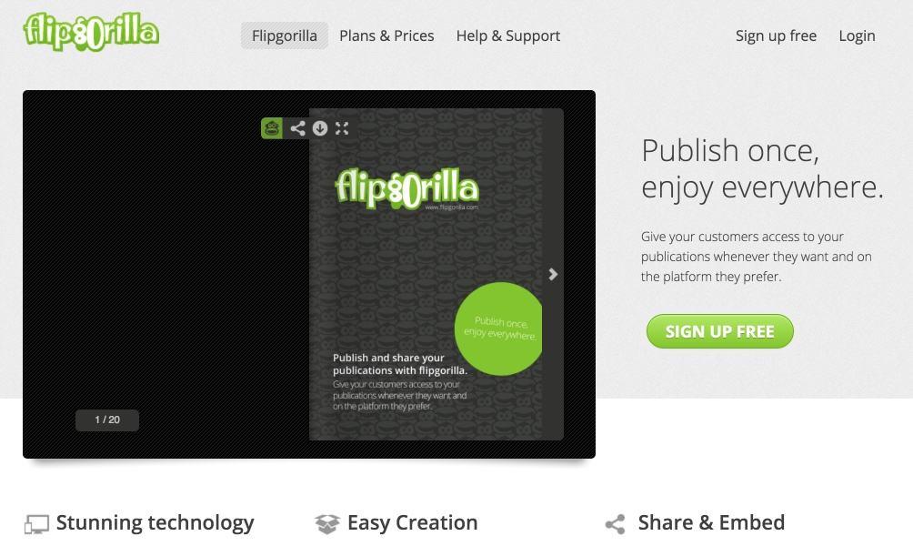 Assez FlipGorilla. Créer un flipbook en ligne – Les Outils Tice TY09