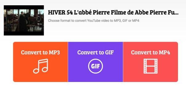 Interface conv youtube