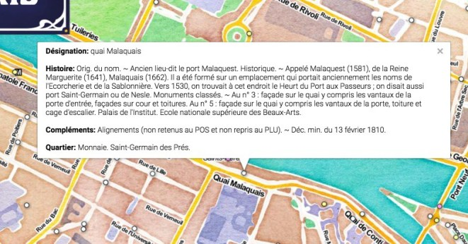 Exemple histoire nom de rue à Paris