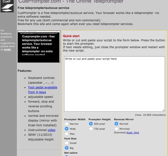 logiciel prompteur gratuit