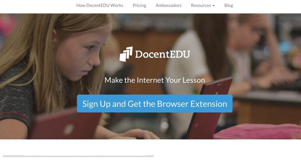 DocentEdu. Transformer n'importe quelle page web en une leçon interactive
