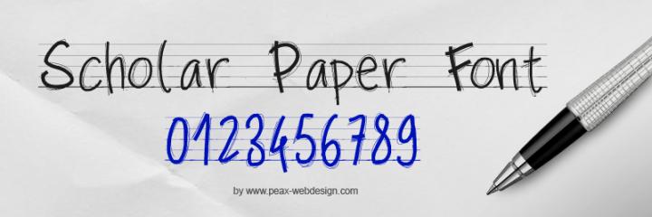 scholar paper font