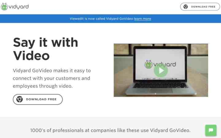 Vidyard Go Video