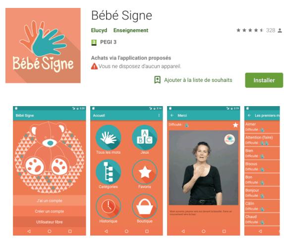 Bebe signe apprendre la langue des signes