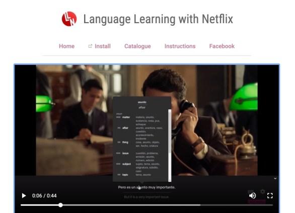 langue Netflix