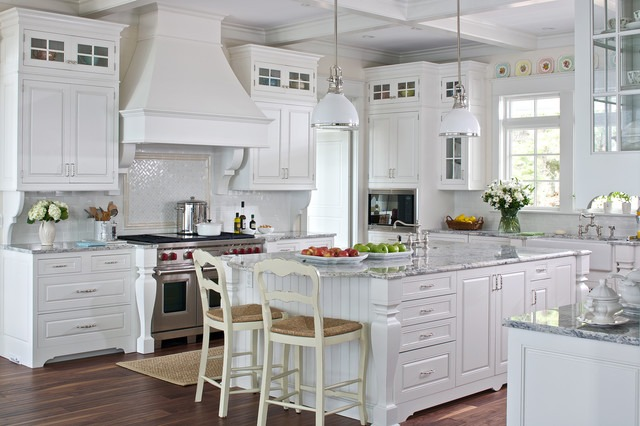 White Cottage Farmhouse Kitchens - Country Kitchen Designs We Love