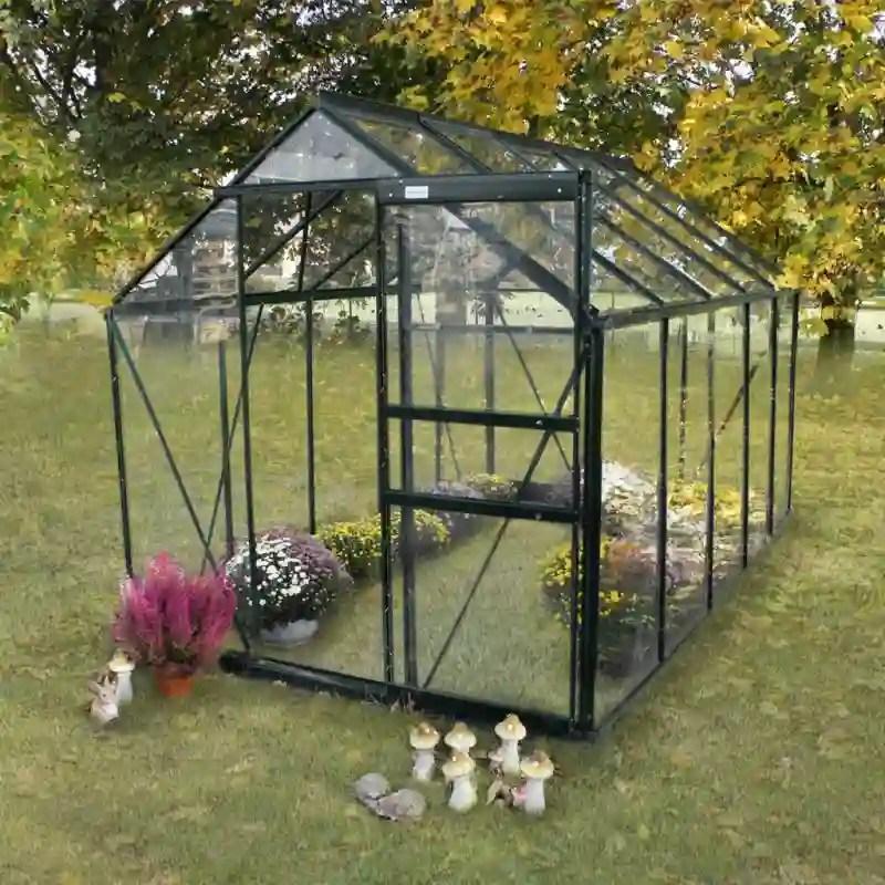 serre jardin verre trempe 4 mm sekurit 5 8 m anthracite