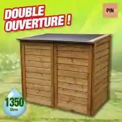 coffre de rangement exterieur en bois 1350 l pin 12mm