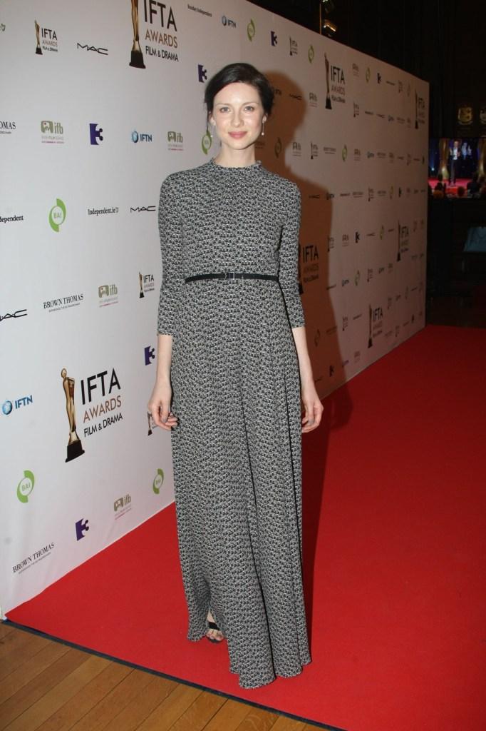 24 May 2015, Dublin, Ireland --- Irish model, actress, best known for Outlander @ The IFTAs in Dublin tonight. Pictured: Irish model/actress, Caitriona Balfe @ The IFTAs in Dublin, Ireland. --- Image by © Mark Doyle/Splash News/Corbis