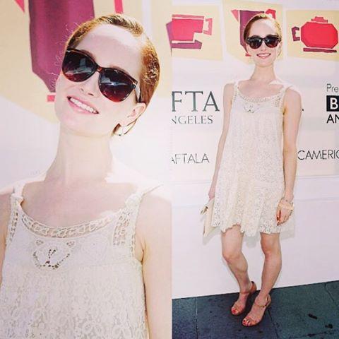 T☀️☀️ bright to take my sunnies off:-) #baftatvtea #baftateaparty #latergram #emmys2015 #emmyweekend