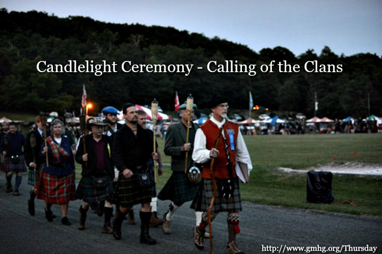 Candlelight ceremony calling of the clans