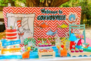 Dr Seuss Inspired 1st Birthday Party