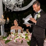 Luxury High End Destination Wedding in Blush and White