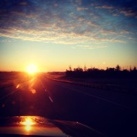sunrise over hwy11 #Alberta