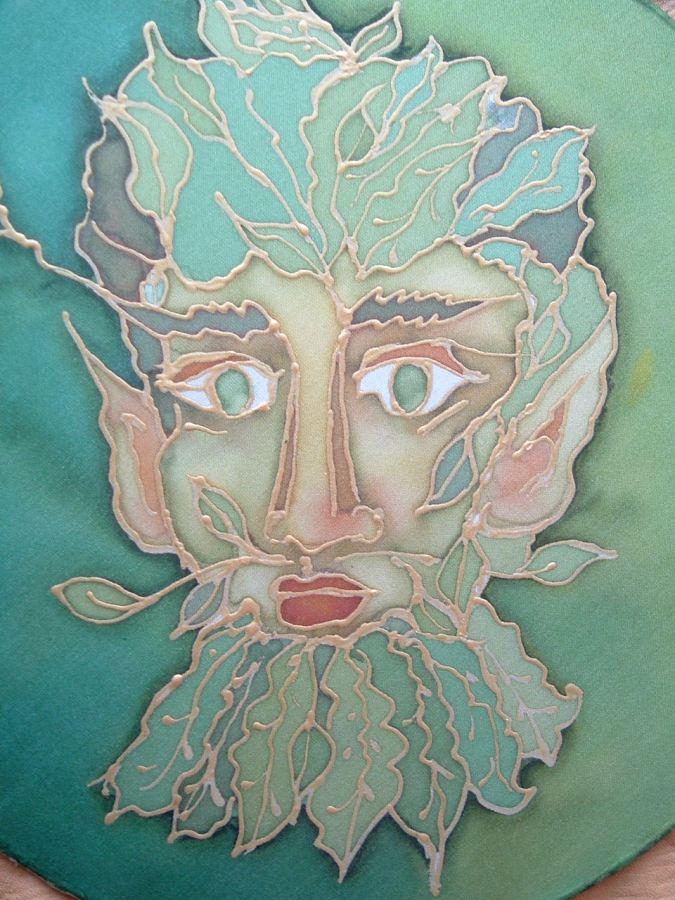 A Spirit of Place I Live, silk painting, Francesca De Grandis