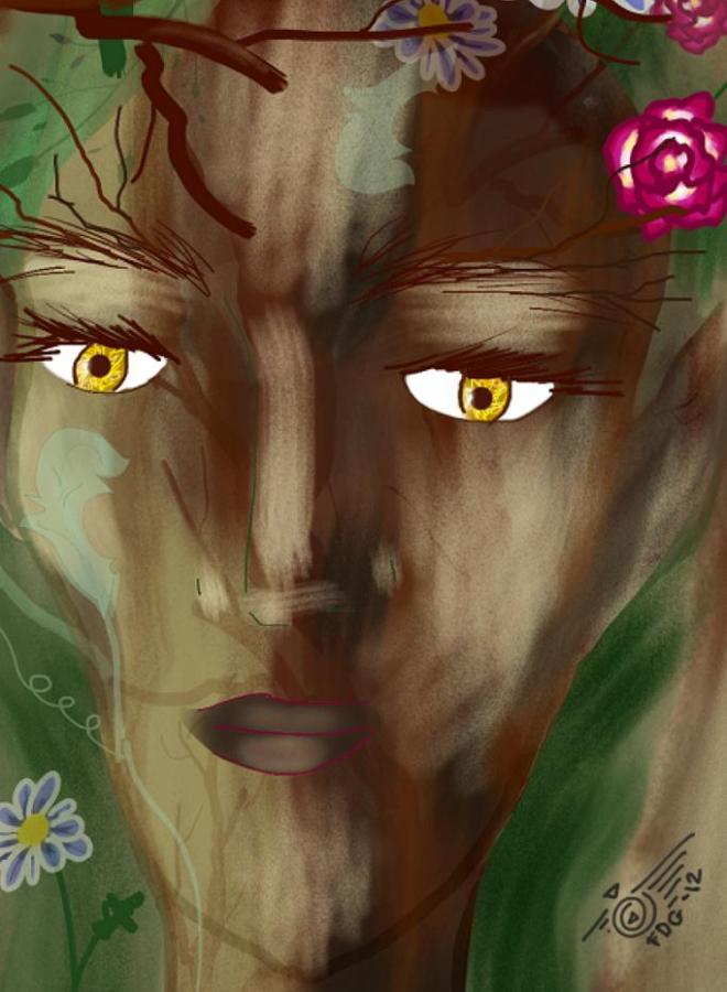 Root Woman by Outlawbunny, Detail