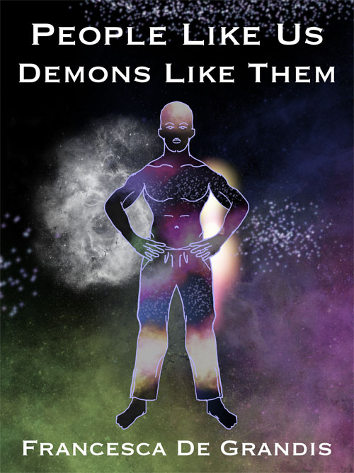 Book cover titled People Like Us, Demons Like Them, Francesca De Grandis