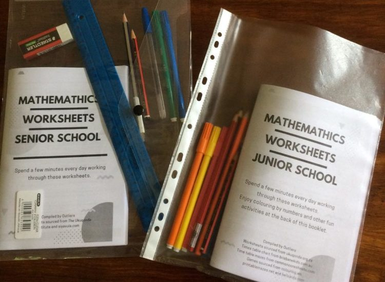 education pack showing 60 page booklet and stationery