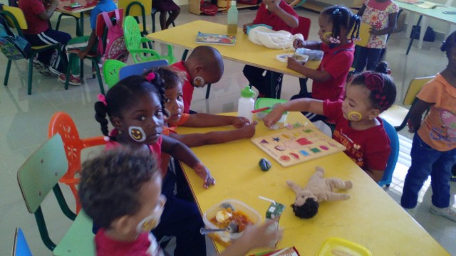 Preschool with Plan International in La Colonia