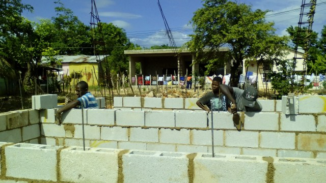preaching, evangelizing, doing walk prayer, constructing