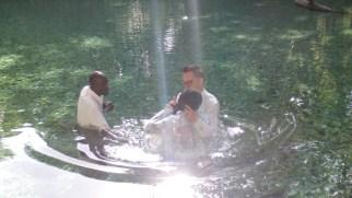 Sponsored several baptism in the Arroyo Salado.