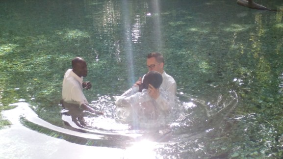 Sponsored several baptism in the Arroyo Salado.