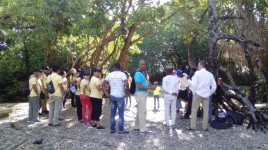 Praying in the Jaragua National Park