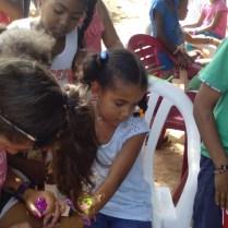 Bible class for children in La Colonia.