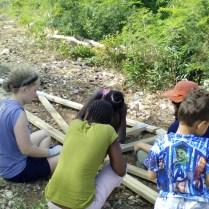 Children also helped.