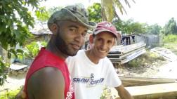 Jean Carlos and on de right pastor Ruddy Carrera