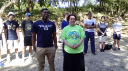 Baptism and Eucharist in the mountains of the Jaragua National Park, day 1.