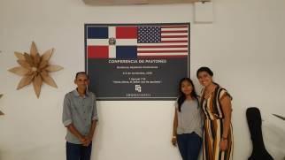 Ruddy Carrera, Gesselle López, y Cesilia Franco