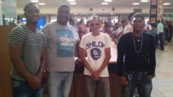 Pastor Ruddy Carrera and his collaborators, day 1.