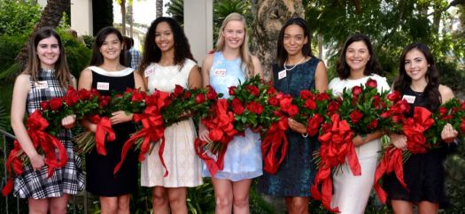 Photo courtesy Tournament of Roses Association Members of the 2018 Royal Court are Julianne Lauenstein, La Cañada High School; Sydney Pickering, Arcadia High School; Savannah Bradley, Pasadena High School; Georgia Cervenka, LCHS; Lauren Buehner, Arcadia High School; Isabella Marez, La Salle High School; and Alexandra Artura, Flintridge Sacred Heart Academy.